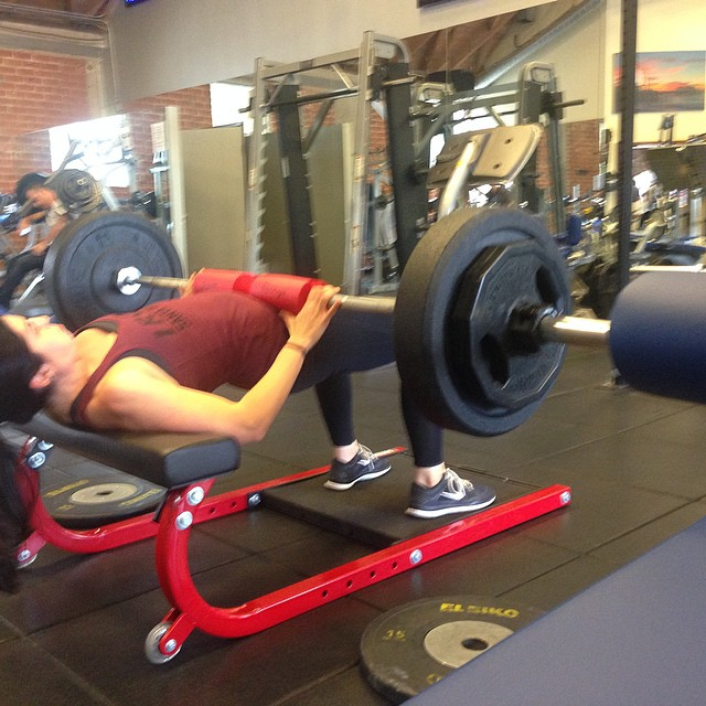 Hip Thrusts  185x12 for 3 sets.