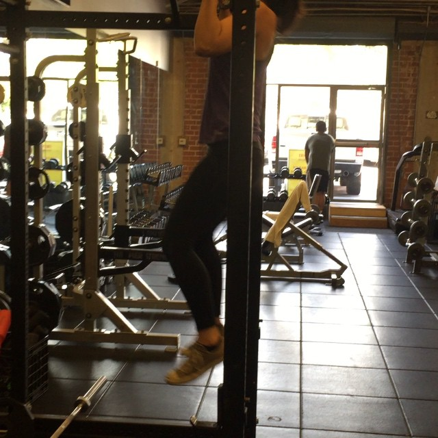 Birthday pull-ups! Kinda sloppy, but I'm working on getting these bad boys more strict. 3 sets of 4 today.